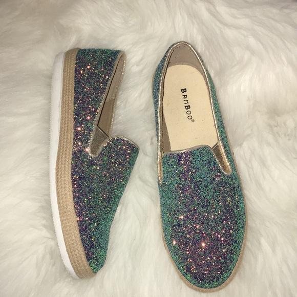 dd32466ebb9d BAMBOO Shoes | Glitter Sneakers Size 11 | Poshmark